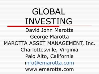 GLOBAL INVESTING