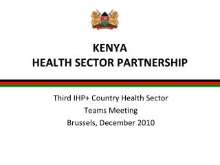 KENYA HEALTH SECTOR PARTNERSHIP