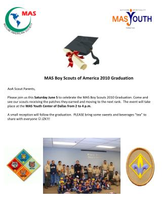 MAS Boy Scouts of America Graduation Saturday June 5_2010