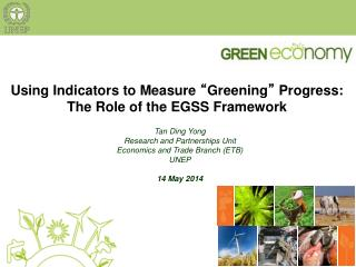 """Using Indicators to Measure  """" Greening """"  Progress: The Role of the EGSS Framework"""