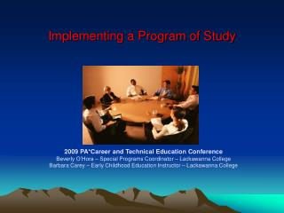 Implementing a Program of Study