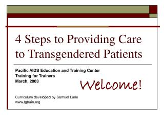 4 Steps to Providing Care to Transgendered Patients