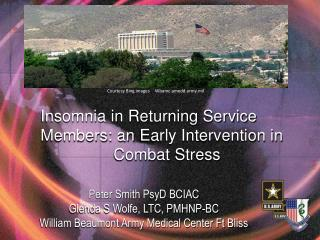 Insomnia  in Returning Service  Members: an  Early Intervention in                 Combat  Stress
