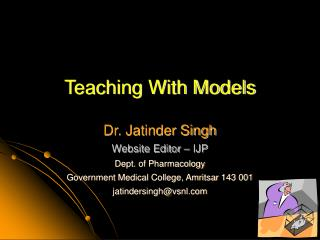 Teaching With Models