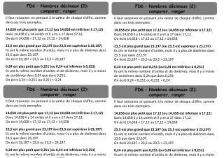 FD6 – Nombres décimaux (2):  comparer, ranger