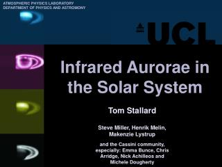 Infrared Aurorae in the Solar System