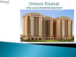 Luxurious flats at Omaxe Riyasat � Noida Expressway