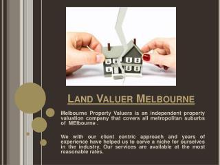 Land Valuers Melbourne