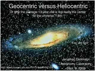 Jonathan Dickinson Astronomy Laboratory Sept. 9, 2002