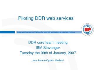 Piloting DDR web services