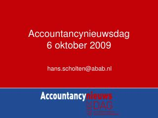 Accountancynieuwsdag  6 oktober 2009