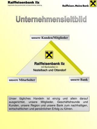 Raiffeisenbank Ilz mit Bankstellen in Nestelbach und Ottendorf