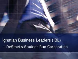 Ignatian Business Leaders (IBL)