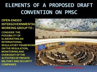 ELEMENTS OF A PROPOSED DRAFT CONVENTION ON PMSC
