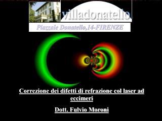 Correzione dei difetti di refrazione col laser ad eccimeri Dott. Fulvio Moroni