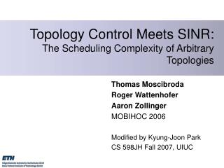 Topology Control Meets SINR: The Scheduling Complexity of Arbitrary Topologies