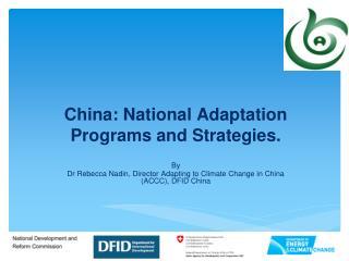 China: National Adaptation Programs and Strategies.