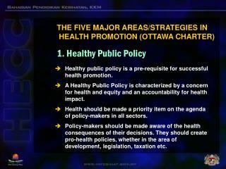 1. Healthy Public Policy