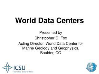 World Data Centers