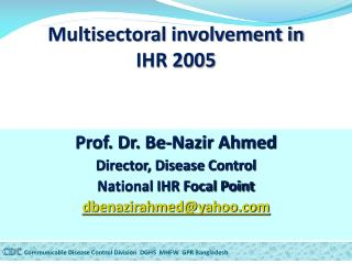 Multisectoral involvement in  IHR 2005