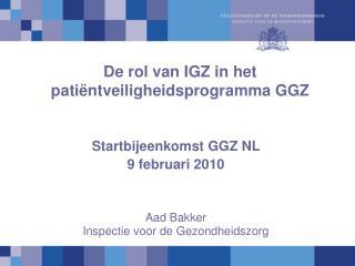 De rol van IGZ in het patiëntveiligheidsprogramma GGZ