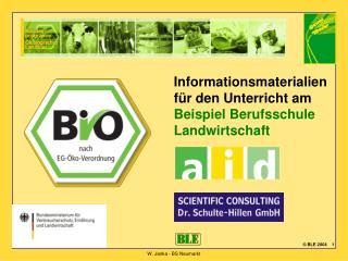Informationsmaterialien für den Unterricht am Beispiel Berufsschule Landwirtschaft