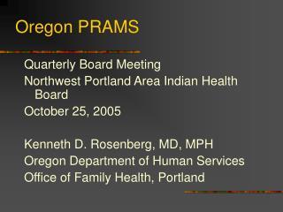 Oregon PRAMS