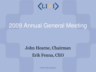 2009 Annual General Meeting