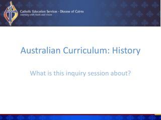 Australian Curriculum: History