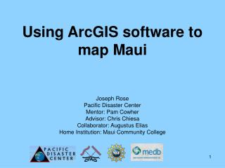 Using ArcGIS software to map Maui