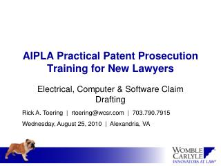 AIPLA Practical Patent Prosecution Training for New Lawyers