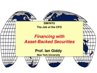 Financing with Asset-Backed Securities