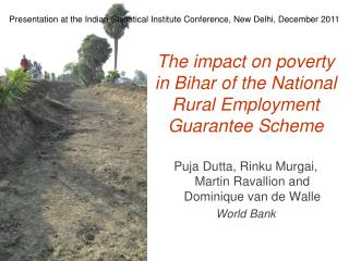 Presentation at the Indian Statistical Institute Conference, New Delhi, December 2011
