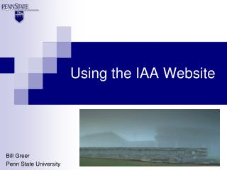 Using the IAA Website