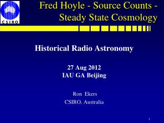 Fred Hoyle - Source Counts - Steady State Cosmology