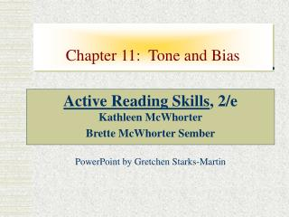 Chapter 11:  Tone and Bias
