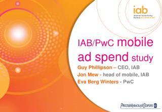 IAB/PwC mobile ad spend study
