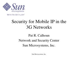 Security for Mobile IP in the 3G Networks