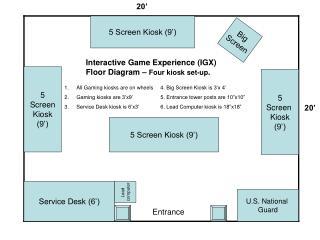 5 Screen Kiosk (9')