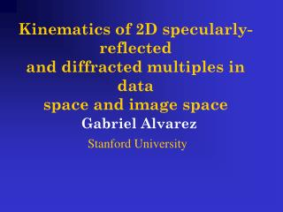 Kinematics of 2D specularly-reflected and diffracted multiples in data space and image space