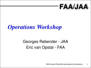 Operations Workshop