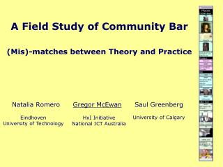 A Field Study of Community Bar (Mis)-matches between Theory and Practice