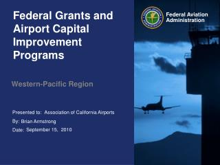 Federal Grants and Airport Capital Improvement Programs