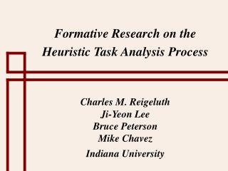 Formative Research on the Heuristic Task Analysis Process