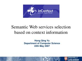 Semantic Web services selection based on context information
