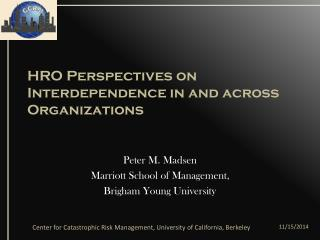 HRO Perspectives on Interdependence in and across Organizations