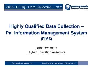 2011-12 HQT Data Collection -  PIMS