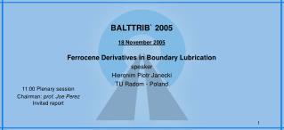 BALTTRIB` 2005 1 8 November 2005