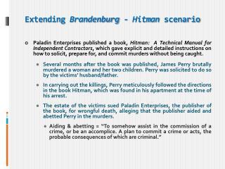 Extending  Brandenburg  -  Hitman scenario
