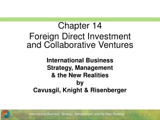 International Business Strategy, Management  the New Realities by Cavusgil, Knight  Risenberger